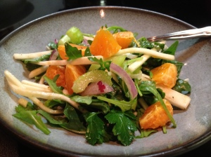 Celery Root and Mandarin Orange Salad