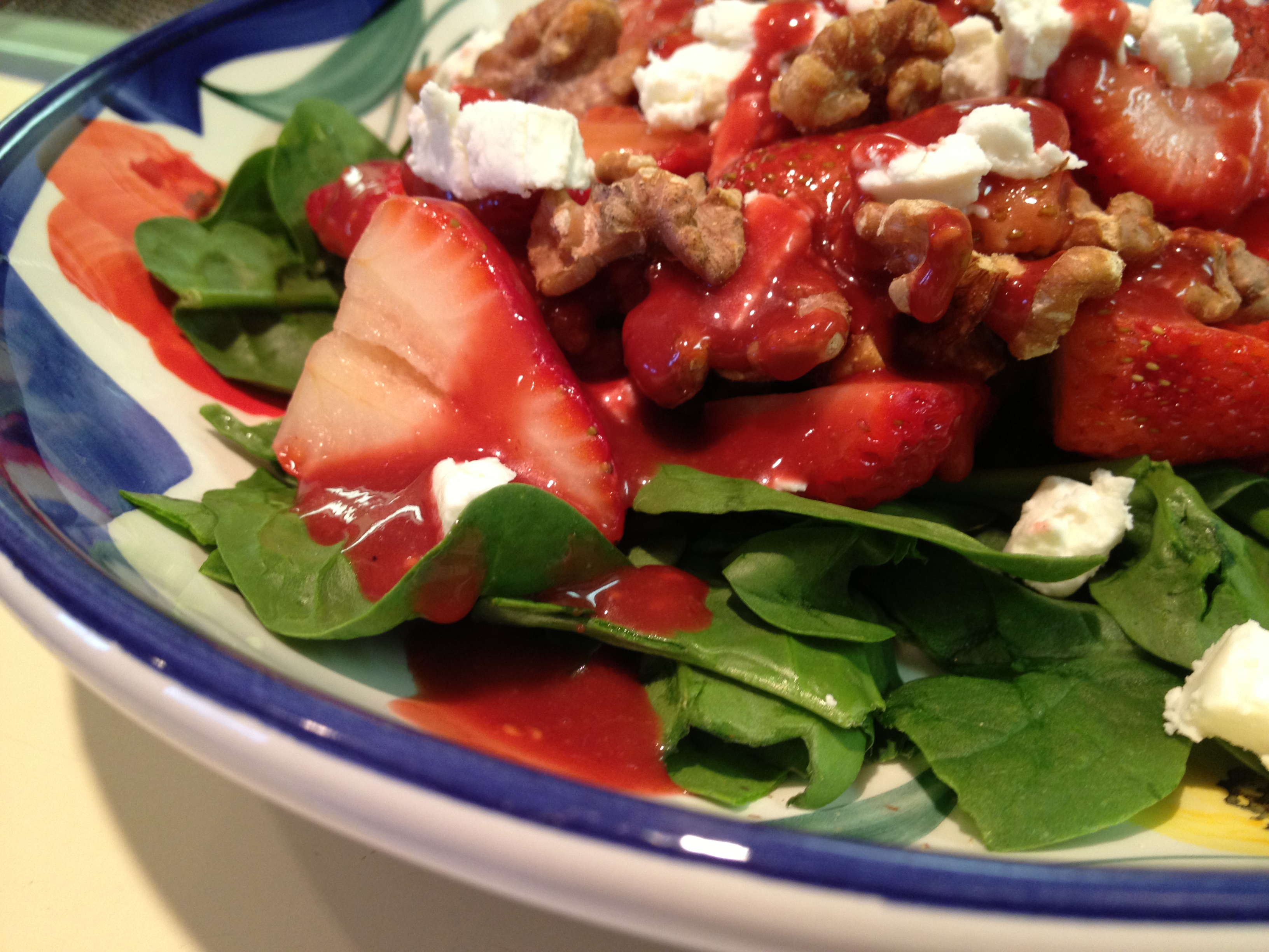 Roasted Strawberry Salad with Raspberry Balsamic Dressing | Sparks ...