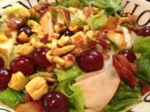 Grape, Pear and Curry Cashew Salad