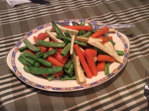 Roasted Carrots, Parsnips and Green Beans