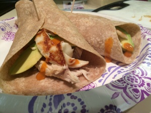 Spicy Chicken, Crispy Halloumi and Avocado Wrap