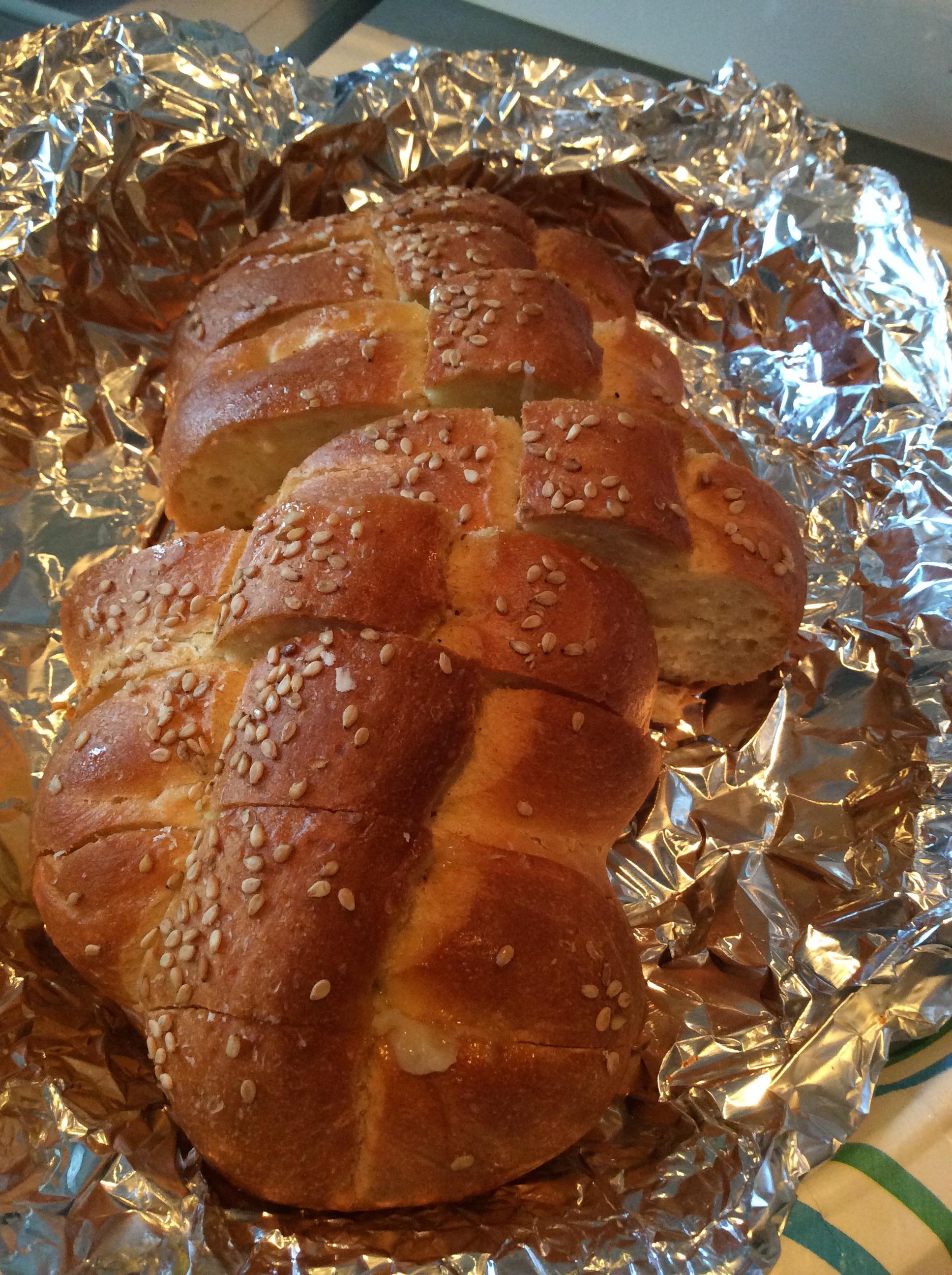 Roasted Garlic & Pecorino Romano Bread | Sparks from the ...